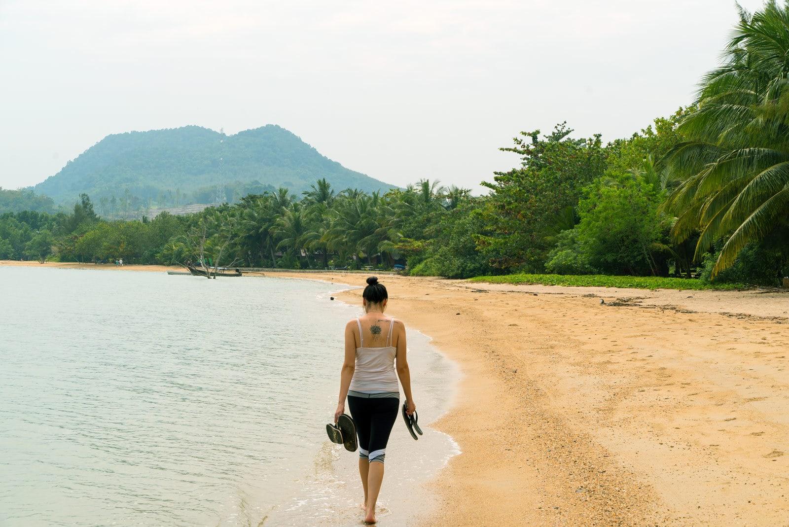 Jana am Strand von Ko Yao Noi Beach
