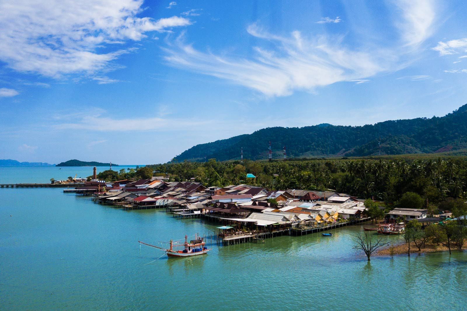 Koh Lanta Old Town Aearial
