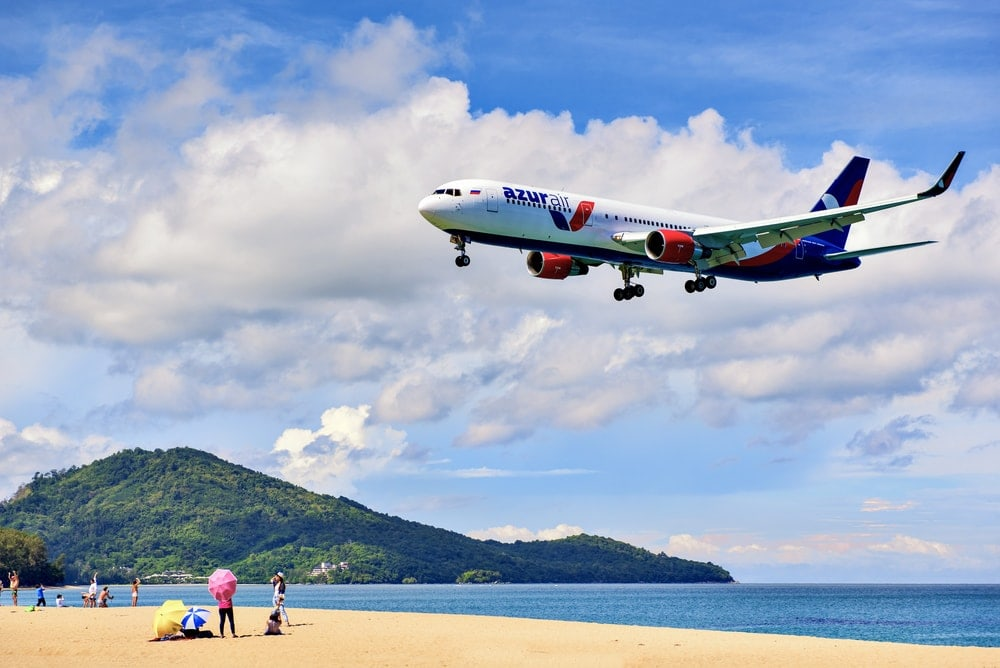 Plane at Phuket Airport, Naiyang Beach - Image Credit: IamDoctorEgg / Shutterstock.com