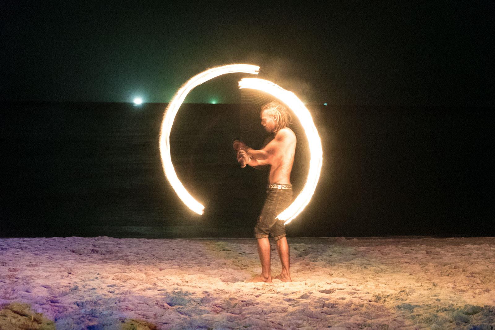 Feuershow in Koh Lanta