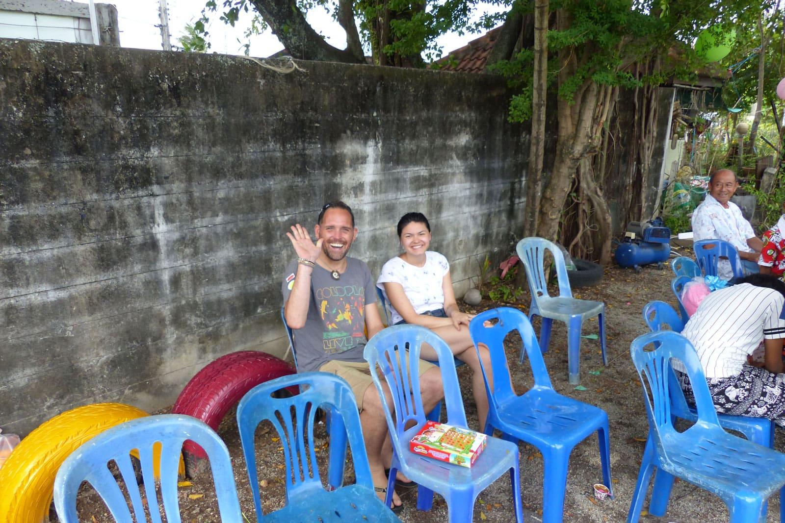 Wir beim Kinderfest in Phuket