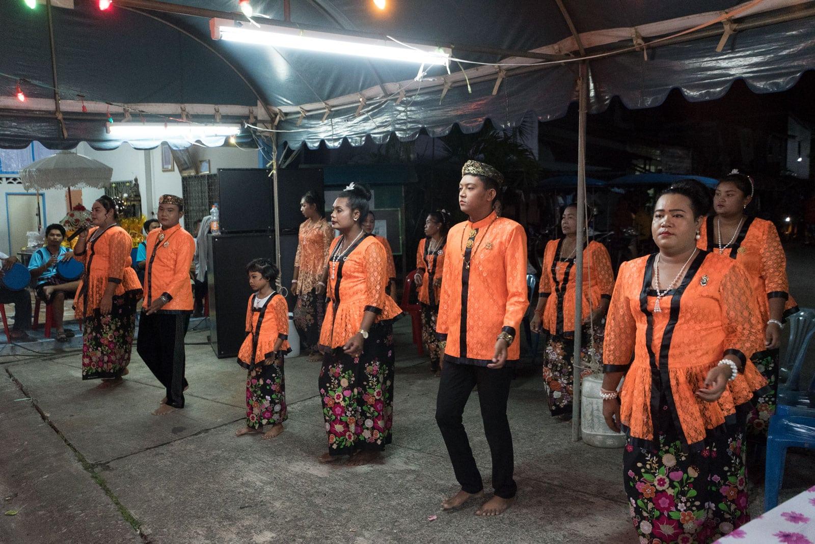 Traditioneller Tanz  auf Bens Mönchsfeier