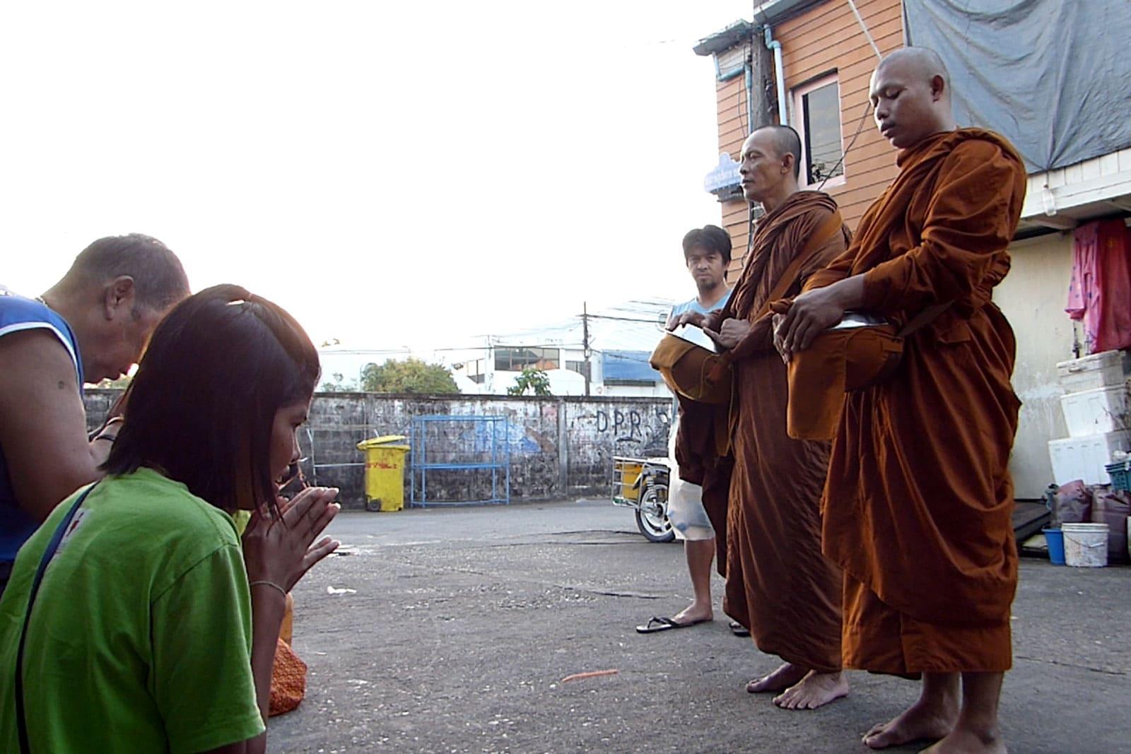 Der erste Tag als Mönch