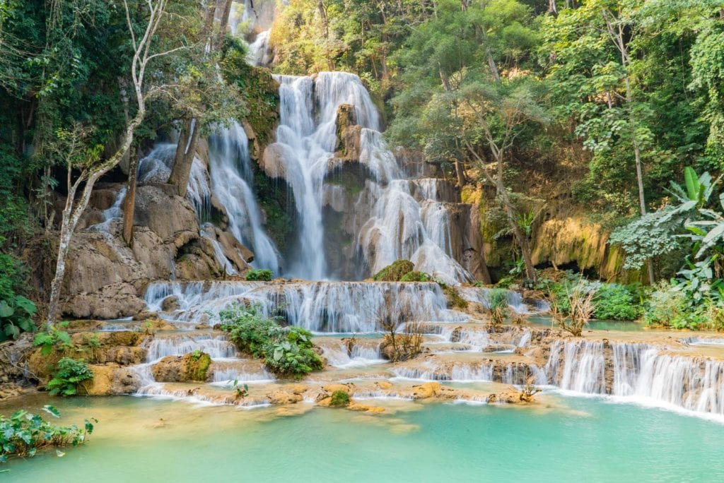 Kuang Si Waterfalls Top Web