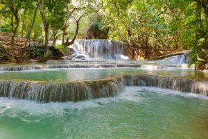 Luang Prabang Laos Kuangsi Wasserfaelle Smartphone Titel