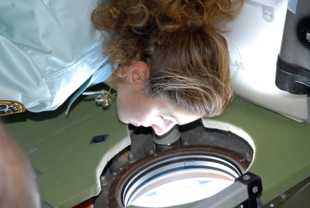 Anousheh Ansari In Space Watching Earth Nasa Image