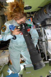Anousheh Ansari In Space With A Big Nikon Lens Nasa Image