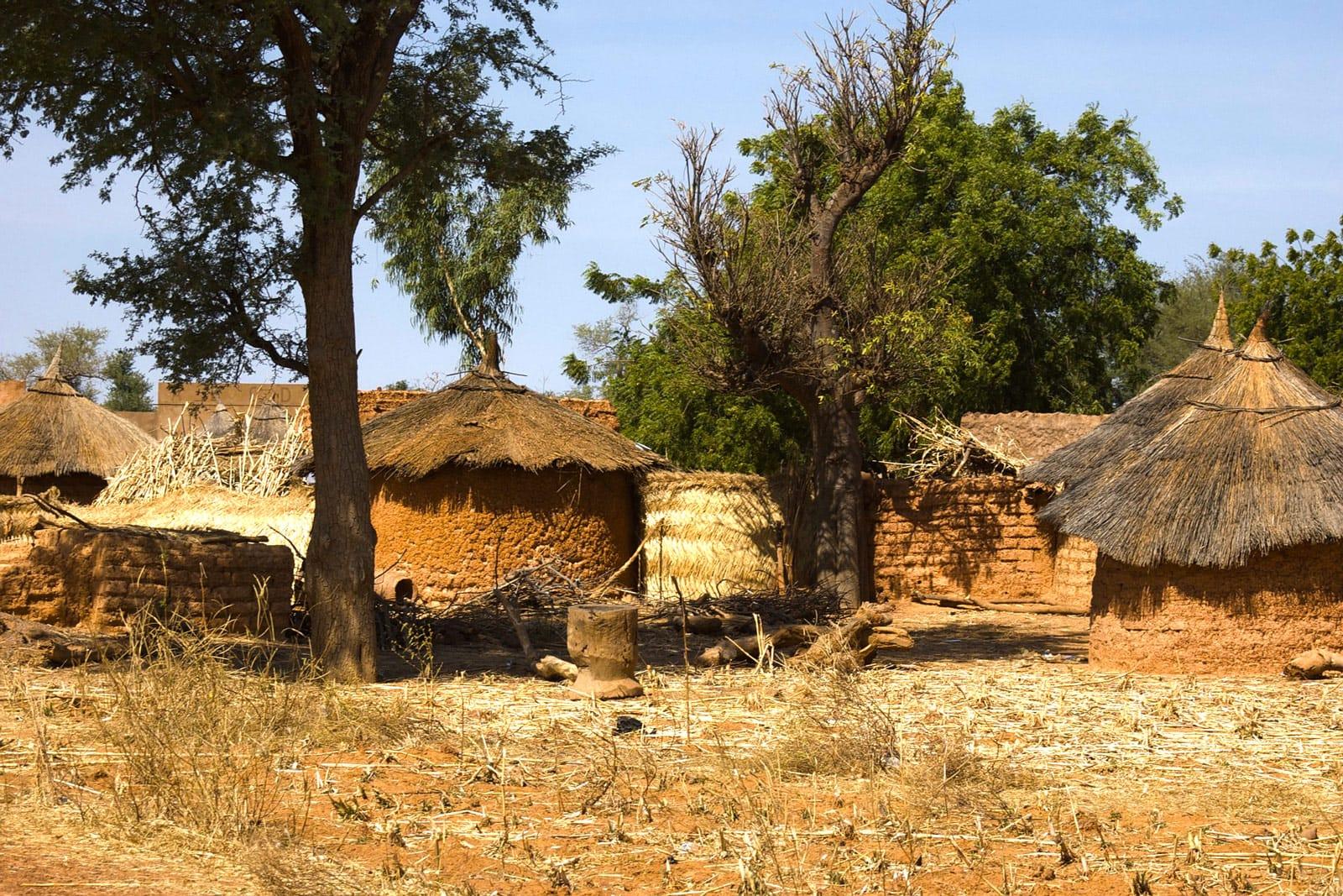 Dorf In Burkina Faso Westafrika