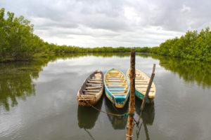 Elfenbeinkueste Boote Im Wasser
