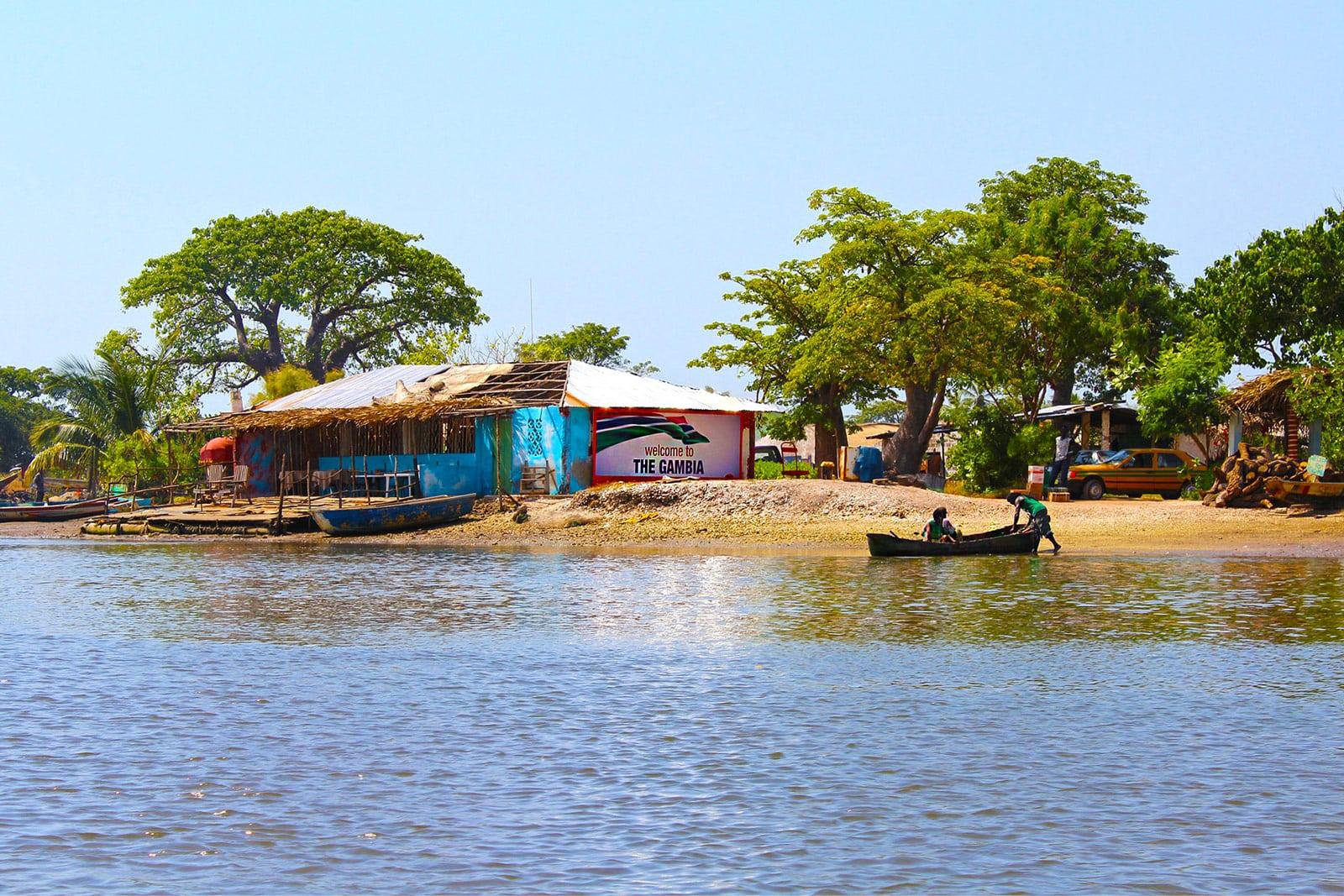 Fluss Gambia Westafrika
