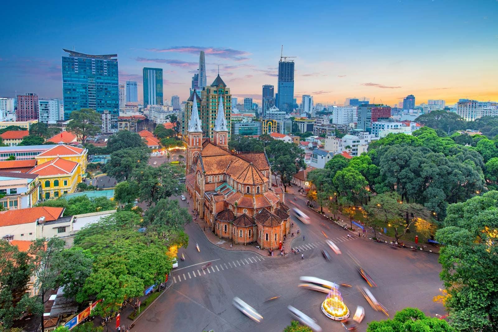 Notre Dame Cathedral Basilica Of Saigon Vietnam