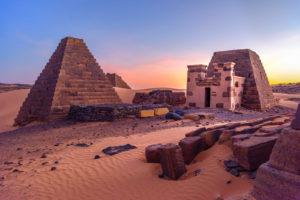 Pyramiden Meroe Sudan Afrika
