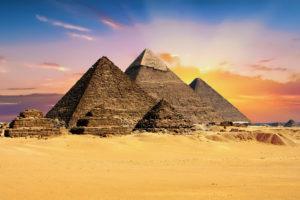 Gizeh Pyramiden Wüste Ägypten
