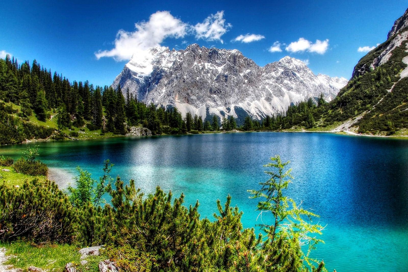 Seebensee Alpen Österreich Europa