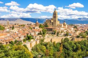 Segovia Spanien Iberische Halbinsel