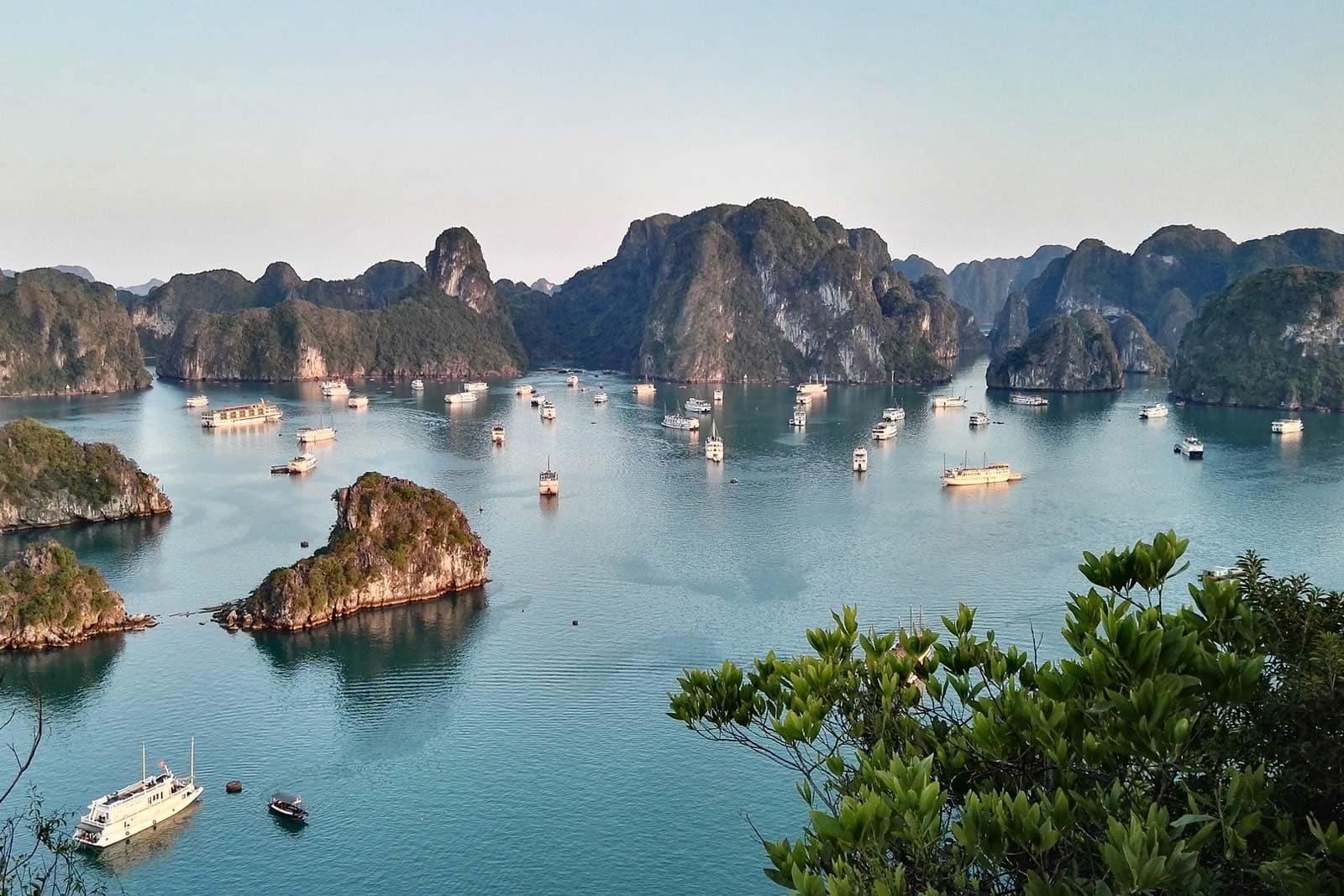 Halong Bay Near Hanoi in Northern Vietnam